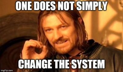 Boromors system change